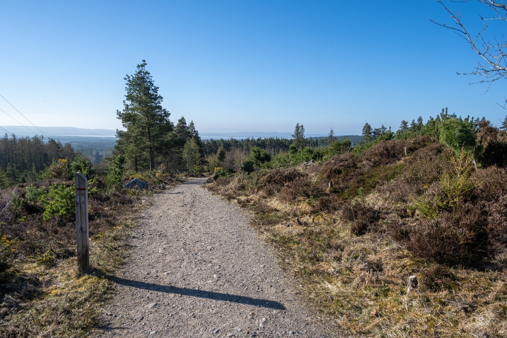 path up to Tain Hill and Pulpit rock