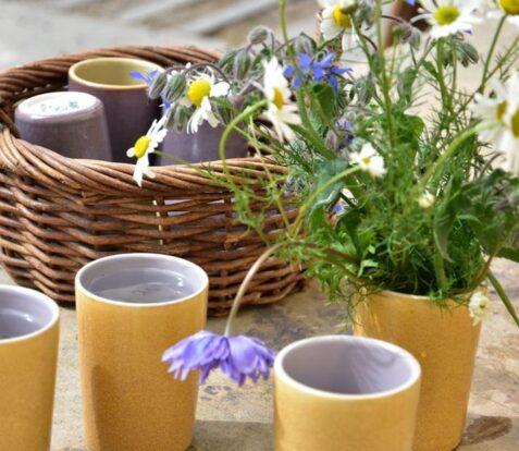Anta homeware and fresh cut flowers in a vase