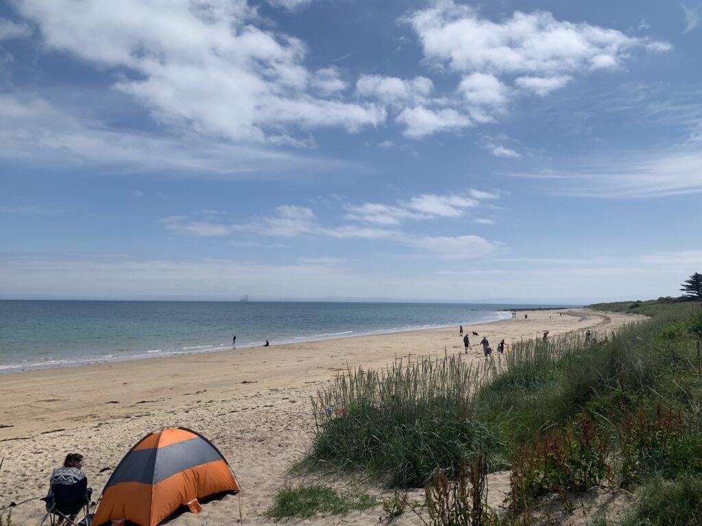 Shandwick beach taken from the carpark