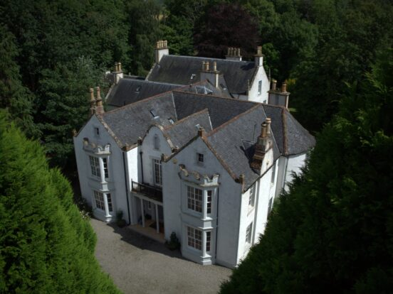 aerial image of the house