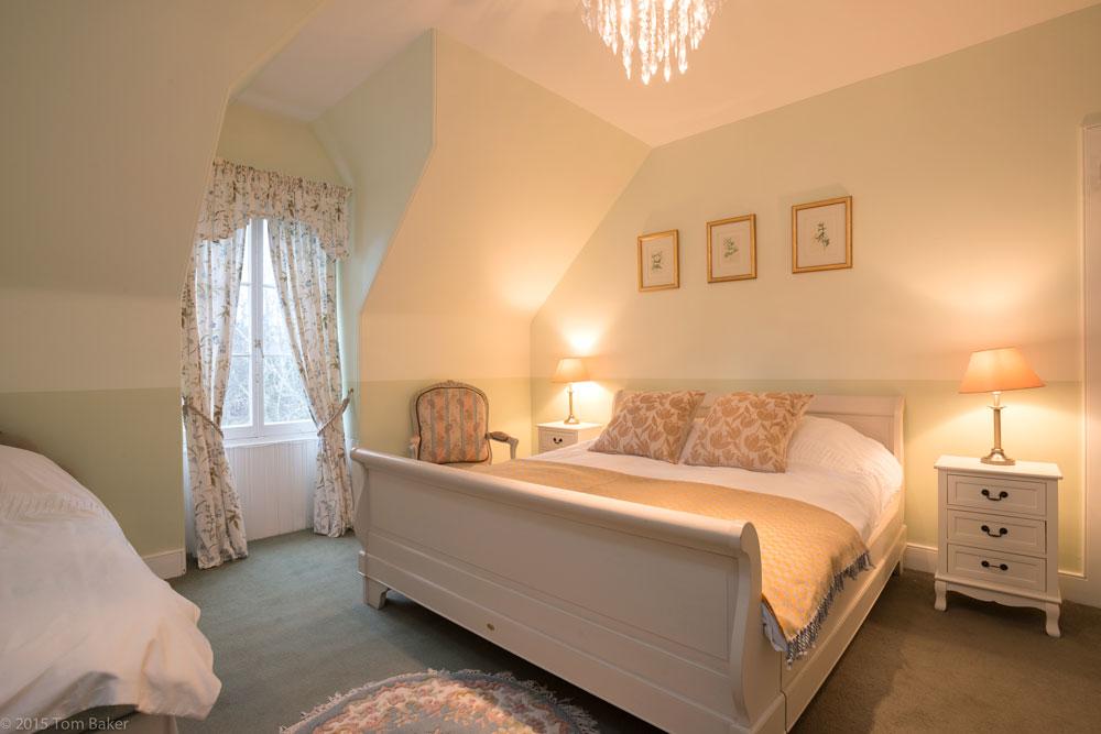 double bedroom interior shot